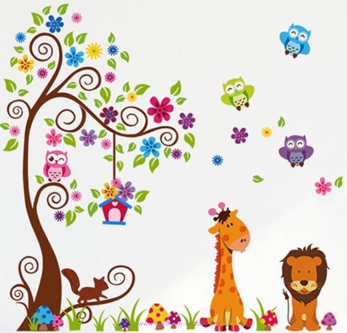 Samolep c dekorace na ze samolep c dekorace strom zoo - Motivos infantiles para decorar ...
