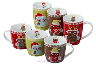 "Porcelánový hrnek ""Christmas owl""- 360 ml"